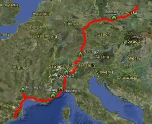 Mapa - EuroTrip
